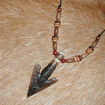 Rendez-vous y III Curso de Arcos Tradicionales con Iurde en Pontós (Girona)   PT0050-necklace-arrowhead-large-beads-400x400