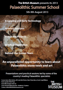 Palaeolithic Summer School 2013