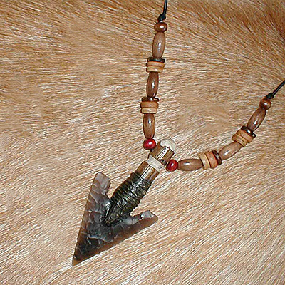 Large arrowhead necklace