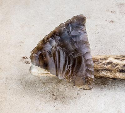 Petit-tranchet flint arrowhead