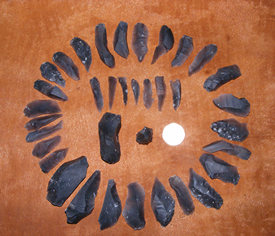 Re-fitting blade core (Mesolithic)